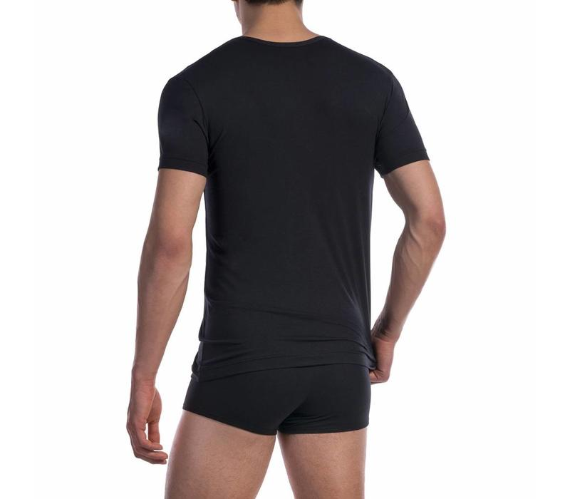 V-shirt katoen classic <zwart>