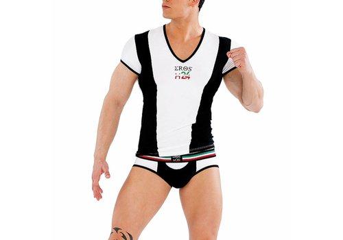 Eros Veneziani V-shirt <zwart/wit> - Eros Veneziani H049