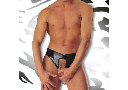 Eros Veneziani Lak Slip met open kruis <zwart> - Eros Veneziani S510