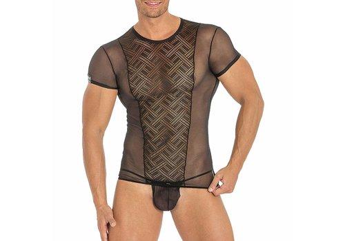 Eros Veneziani T-shirt (doorzichtig) <zwart> - Eros Veneziani 7266