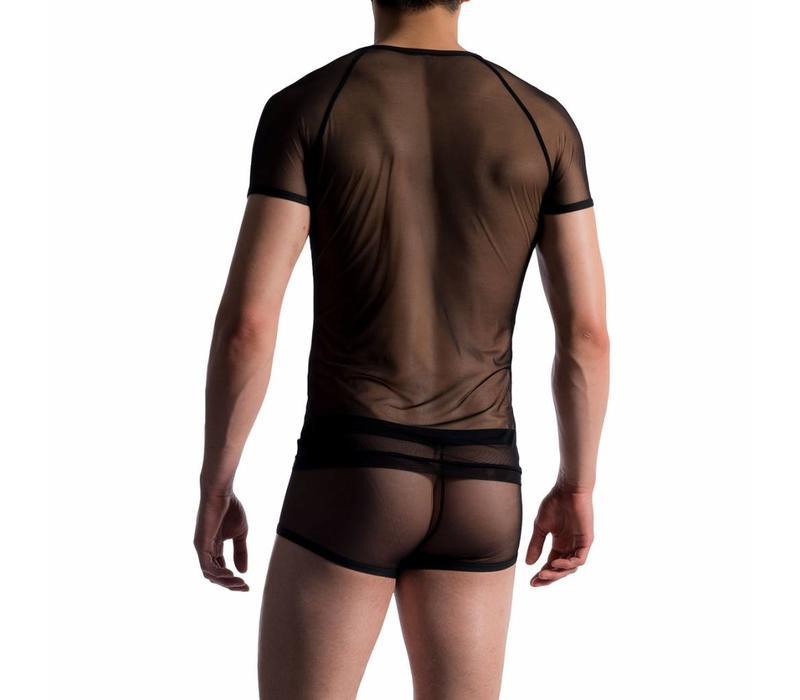 Brando Shirt doorzichtig <zwart>