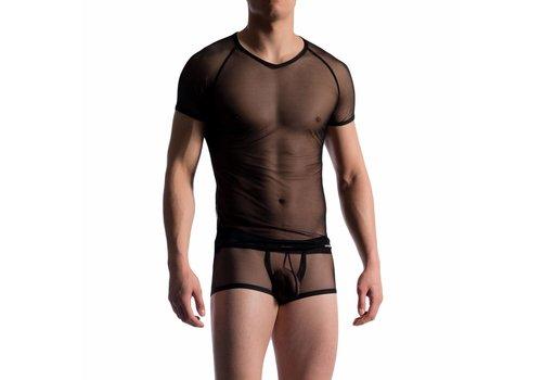 Manstore Brando Shirt doorzichtig <zwart> - Manstore M714