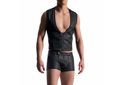 Manstore Top leather look <zwart> - Manstore 715