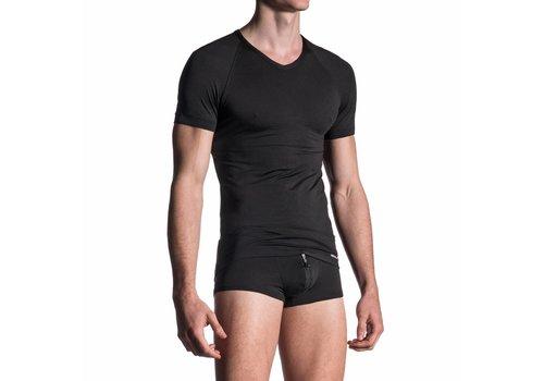 Manstore V-shirt microfiber <zwart> - Manstore M200*