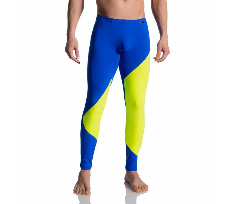 Sportieve leggings <blauw/neon>