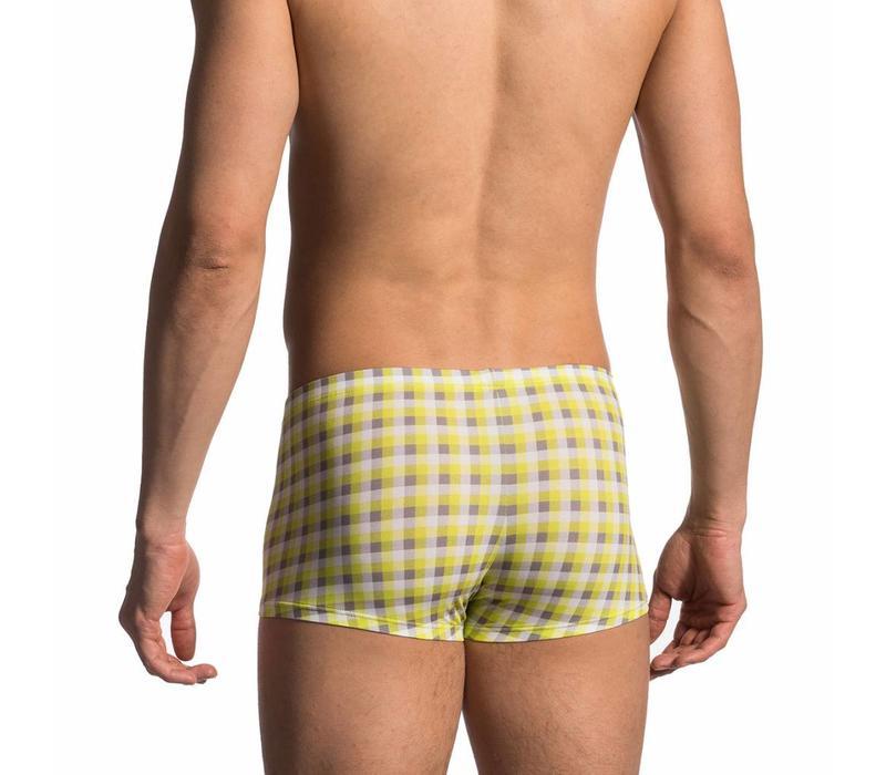 Boxershort <geruit geel/grijs>