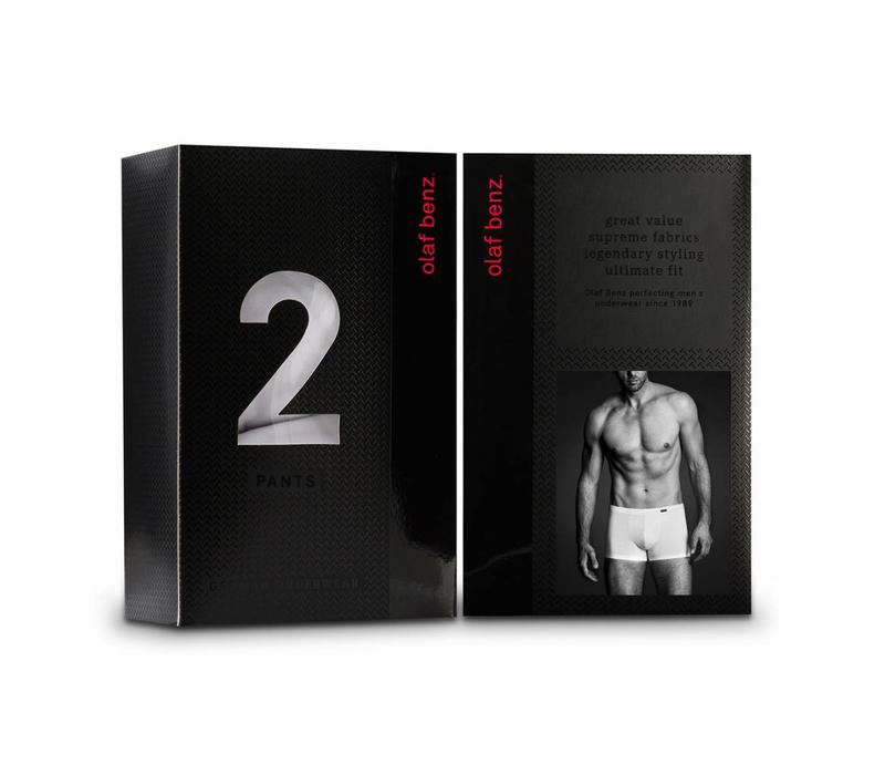 Boxershort katoen (2 pack) met Extra Korting* <wit>