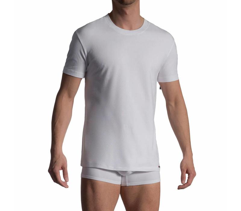 T-Shirt katoen (2 pack) <wit>