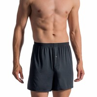 Boxershorts met zijde <anthraciet>