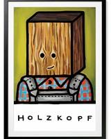 HOLZKOPF - Gerahmter FineArt-Print