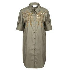 Essentiel Nikai Khaki dress