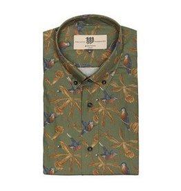 Bertoni Green pattern shirt