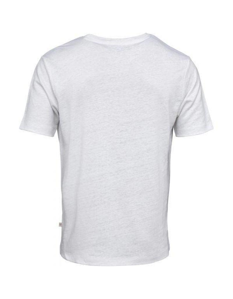 Knowledge Cotton Knowledge Cotton  White Linen T Shirt