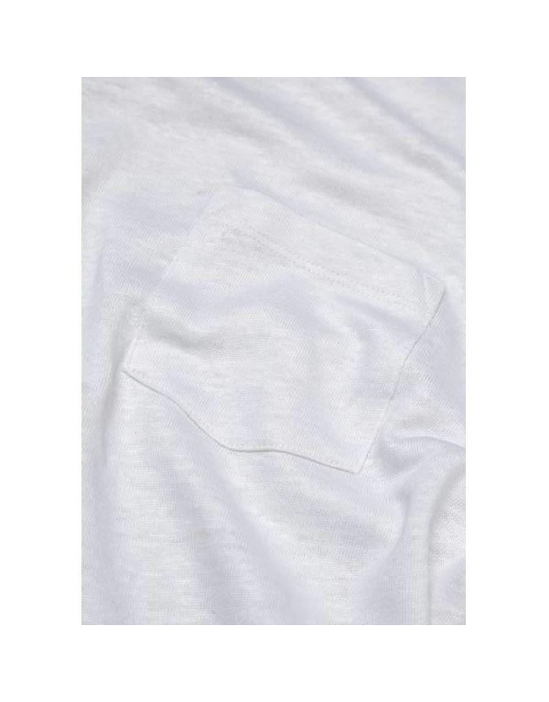 Knowledge Cotton Knowledge Cotton  White Linen T Shirt