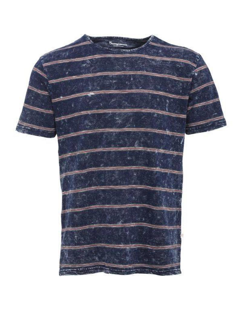 Knowledge Cotton Knowledge Cotton Denim Stripe T Shirt