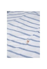 Knowledge Cotton Knowledge Cotton White T Shirt with Blue Stripes