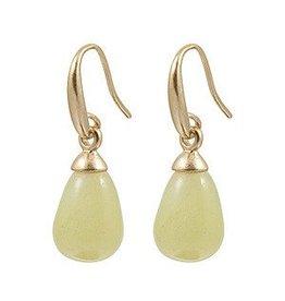 Sence Alhoa jade gold earrings