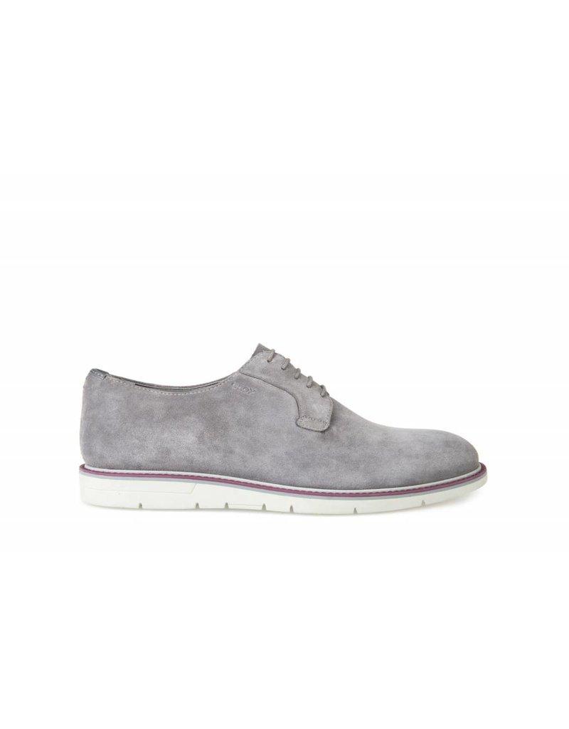 Geox Uvet Grey Suede Shoe