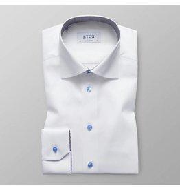 Eton Bulldog Print Trim Shirt