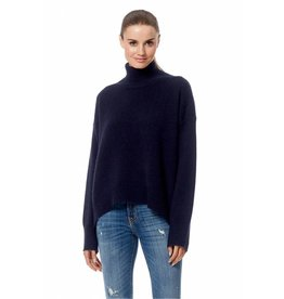 360CASHMERE Olive Roll Neck Jumper