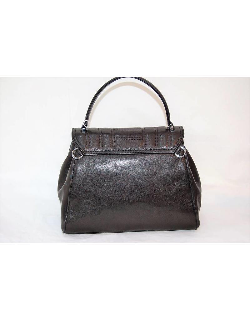 Abro Leather Clasp Handbag