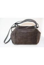 Abro Suede Foldover Bag