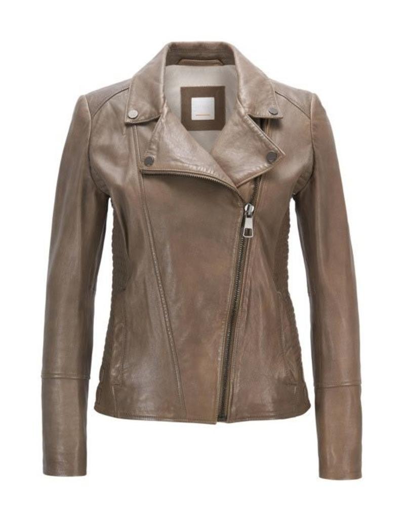 Boss Orange Jamiga Leather Jacket