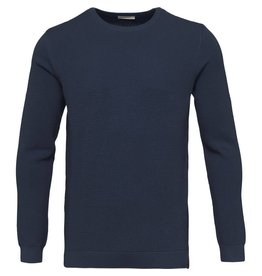 Knowledge Cotton Pique Crew Neck Knit