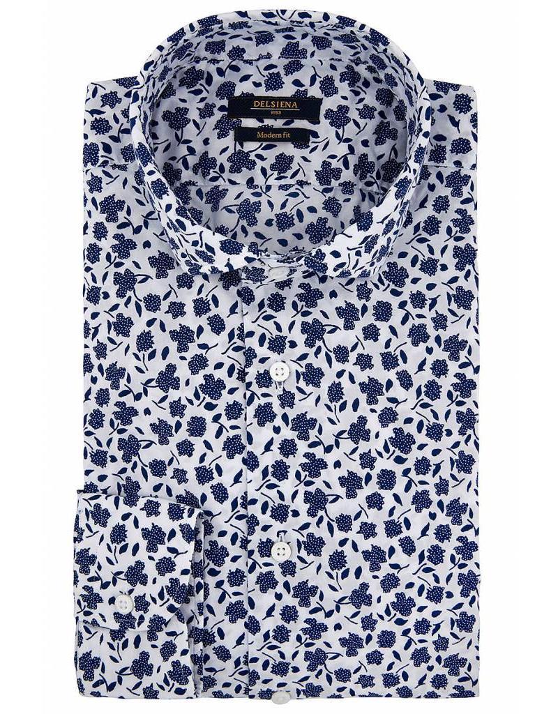 Delsiena Leaf Print Shirt