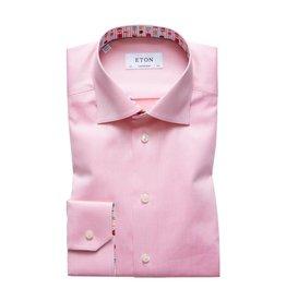 Eton Plain Slim Fit Shirt Lolly Trim