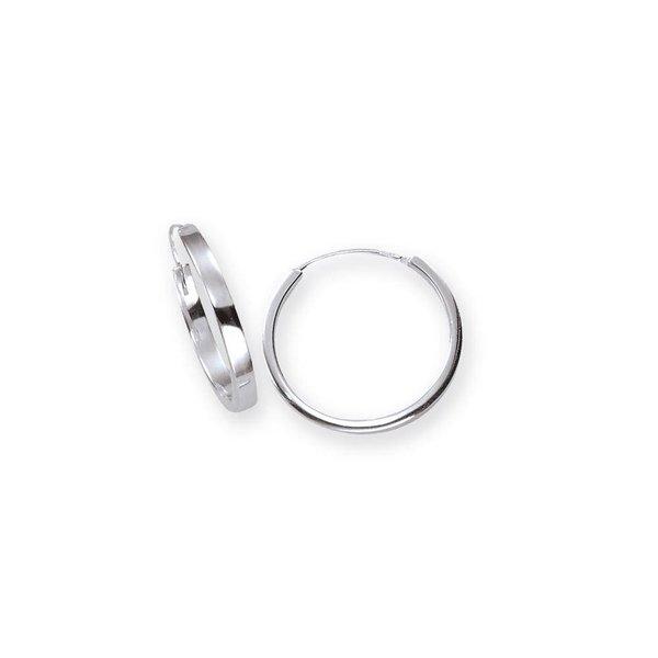 Zilveren massieve creolen - 3 mm - vierkante buis