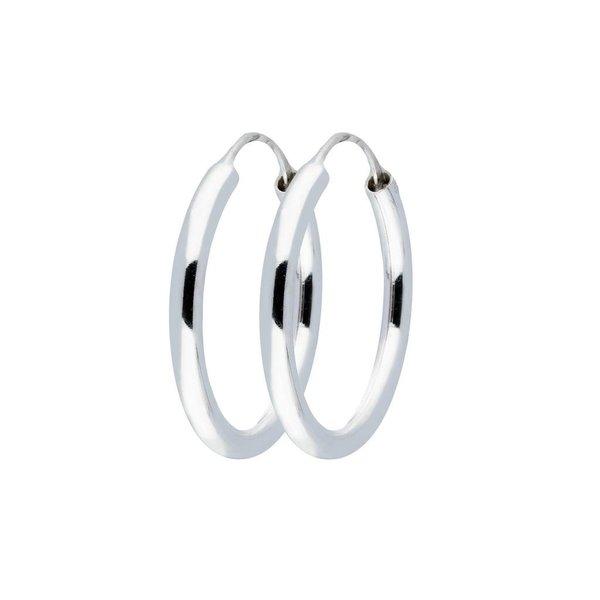 Zilveren draadcreolen - 3 mm