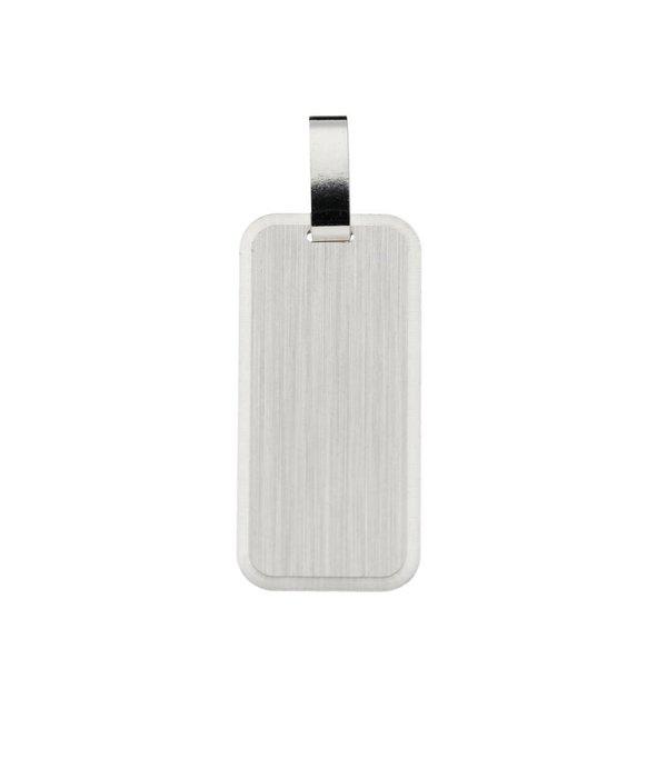 Best basics Zilveren graveerplaatje - 12 mm - rechthoek -