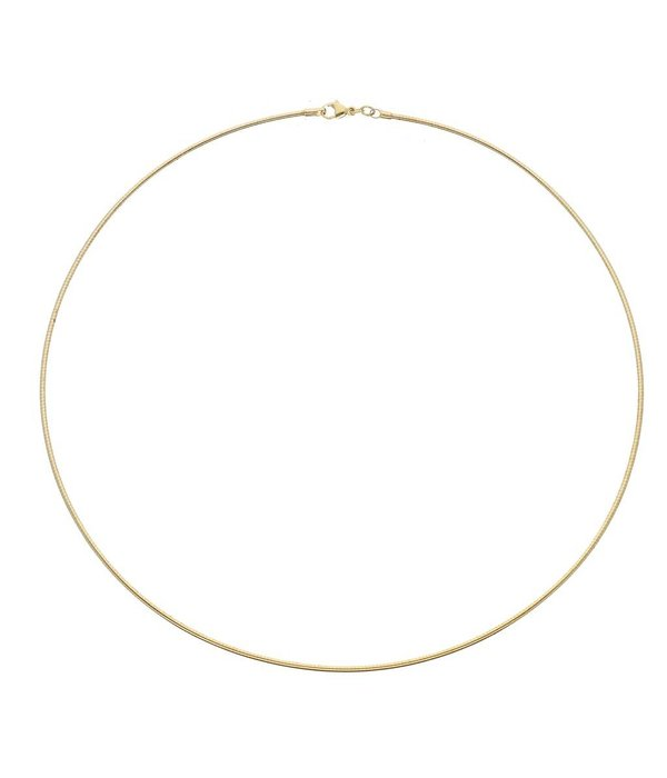 Best basics Doublé omegacollier - 45 mm - 1.5 mm - rond -