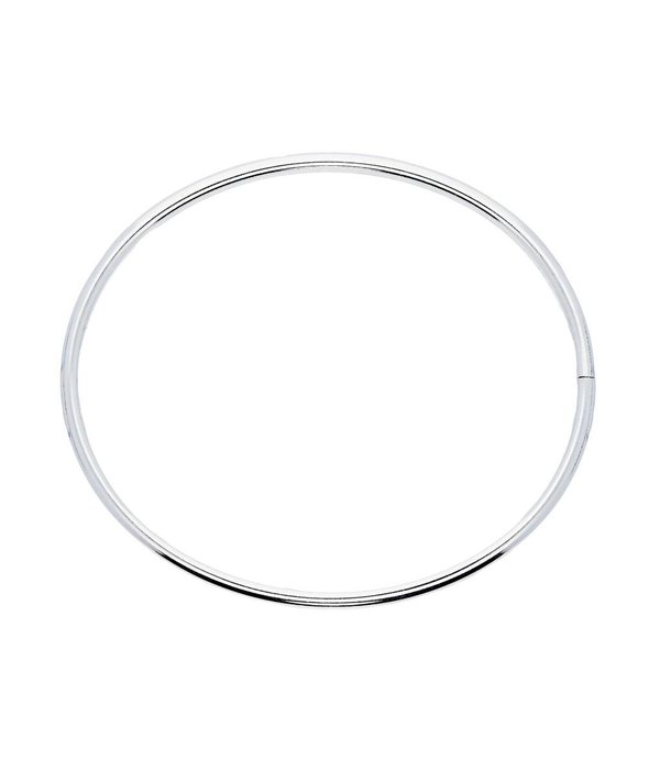 Best basics Zilveren holle slavenband dop - ovaal 4 mm - 60 mm -