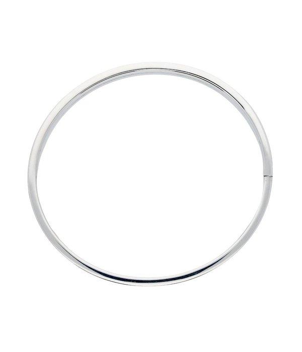 Best basics Zilveren holle slavenband dop - vierkant - 7 mm - 60 mm