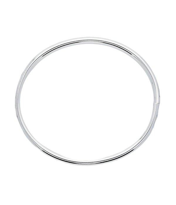 Best basics Zilveren holle slavenband dop - ovaal 6 mm - 64 mm -
