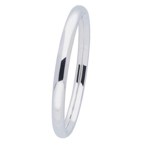 Zilveren holle slavenband dop - ovaal 7 mm - 64 mm