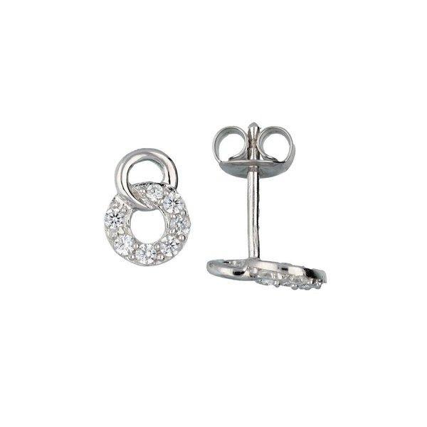 Zilveren oorknopjes met steen - zirkonia