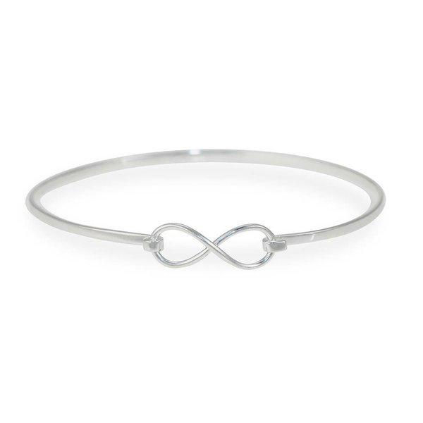 Zilveren klemarmband - infinity