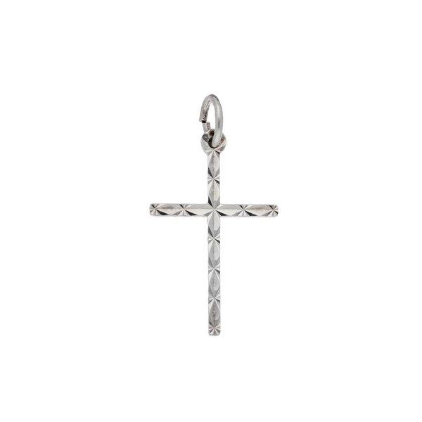 Zilveren kruisje - bewerkt