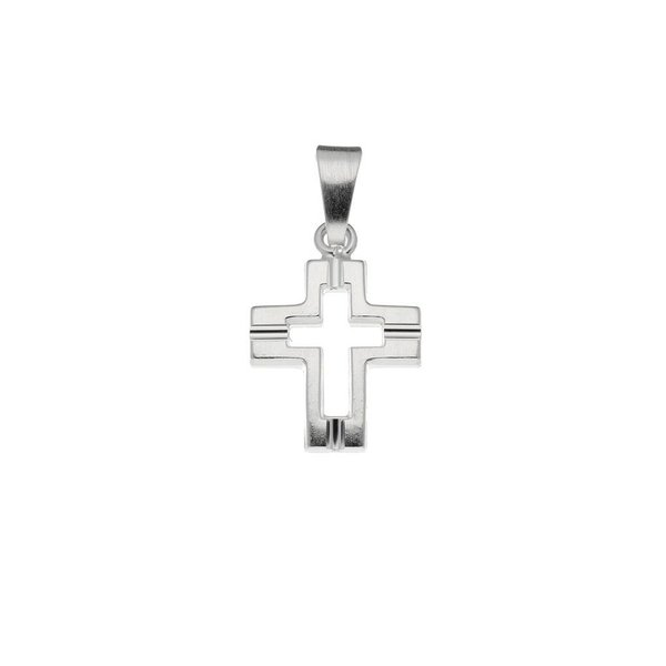 Zilveren kruisje - bewerkt - massief