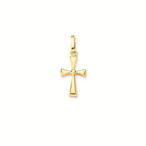 Gouden kruisje - 17 x 7.5 mm - massief