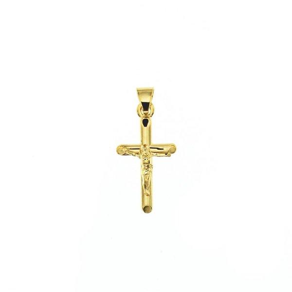 Gouden kruisje - 21 x 9.5 mm - corpus
