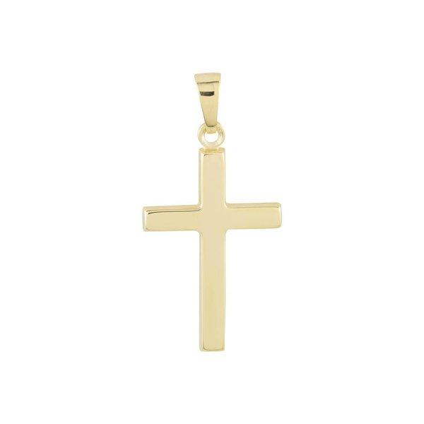 Gouden kruisje - 28 x 14 mm - glanzend - hol