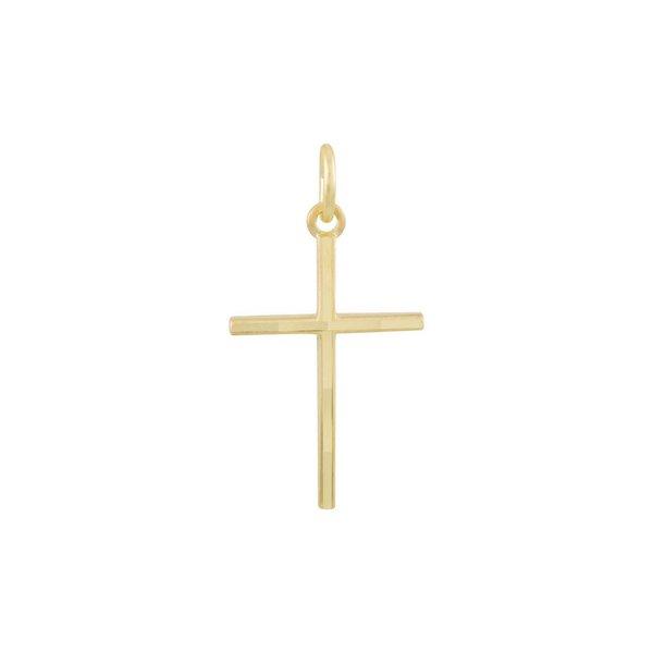 Gouden kruisje - 25 x 13 mm - massief