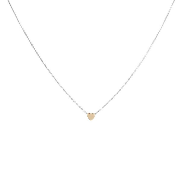 Gouden collier - hanger -  hart