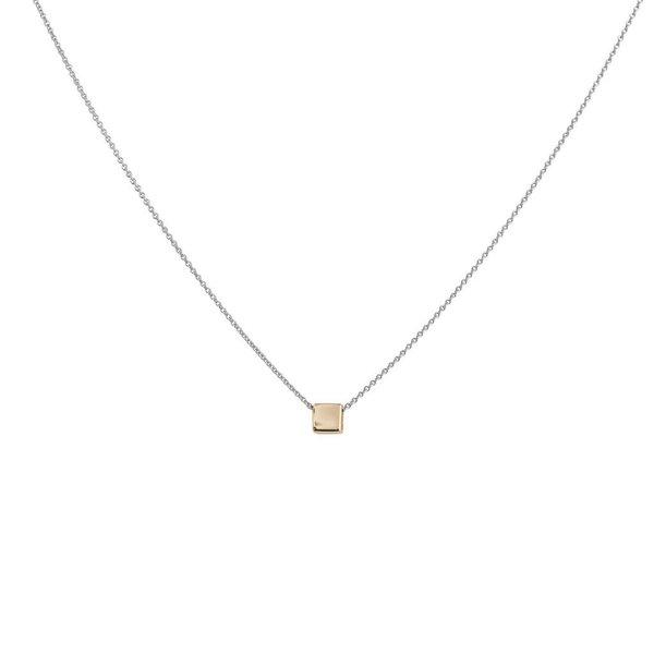 Gouden symboolcollier - vierkant