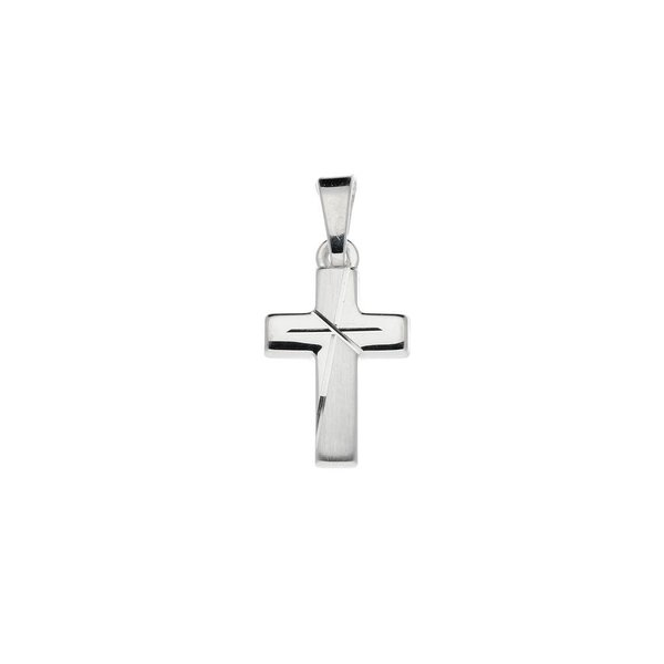 Zilveren kruisje - 20 x 11 mm - mat glanzend