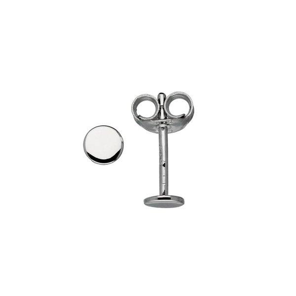 Zilveren symbooloorknopjes - rond - glad